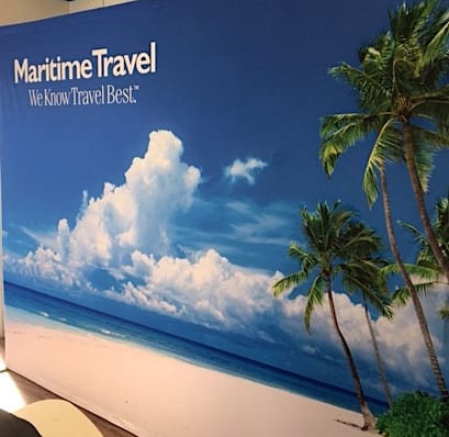 Maritime Travel Trade Show Back Drop